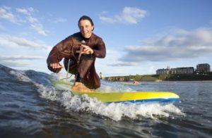 Surfing Monk