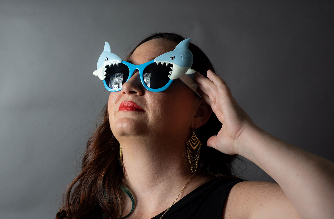 Alice Sullivan in Shark Glasses